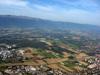 Une portion du Pays de Gex: à gauche le CERN, et tout à droite, Ferney-Voltaire