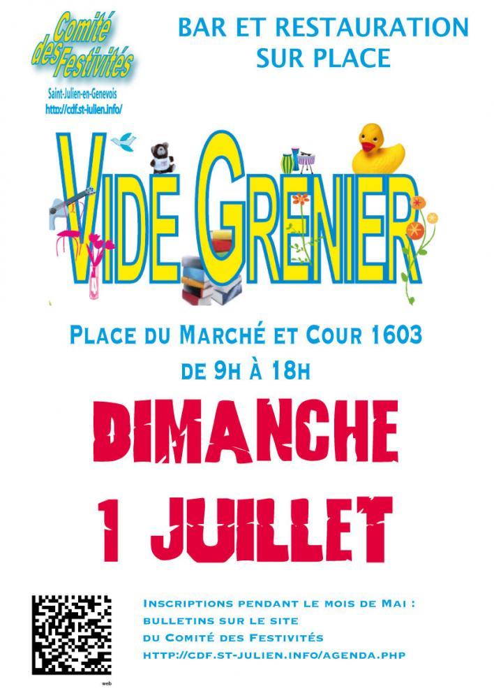 Place du marché - Saint Julien en Genevois, Dimanche 1 juillet 2018