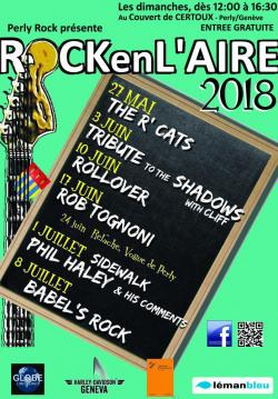 affiche Rock en l'Aire 2018 - Sidewalk Blues Band, Phil Haley & His Comment