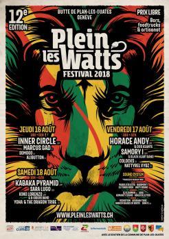 affiche Plein-les-Watts Festival 2018