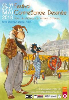 affiche 5ème Festival de ContreBande Dessinée