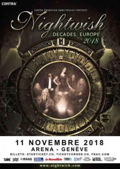 affiche NIGHTWISH « Decades : World Tour 2018 »