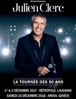 affiche Julien CLERC «La tournée des 50 ans»