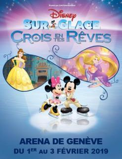 affiche Disney sur Glace présente 'Crois en tes rêves'