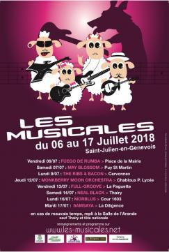 affiche Les Musicales - The Ribs & Bacon