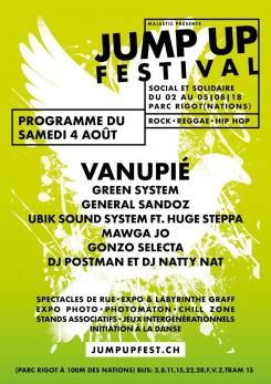 affiche Jump Up Festival 2018