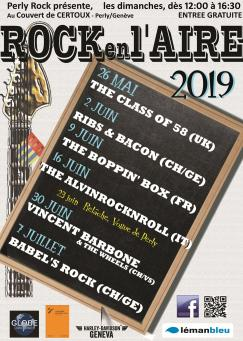 affiche Rock en l'Aire 2019 - Vincent Barbone & The Wheels