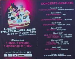 affiche Les Musicales 2019 - Les Poissons Voyageurs
