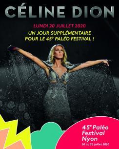 affiche Céline DION à Paléo - annulé