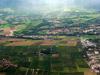 Le CERN et St Genis Pouilly. Au fond, Sergy et Thoiry