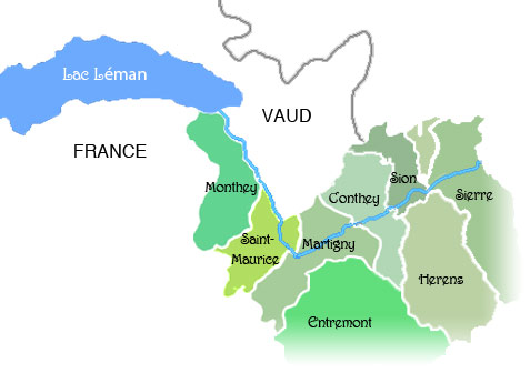 DISTRICTS-VALAIS